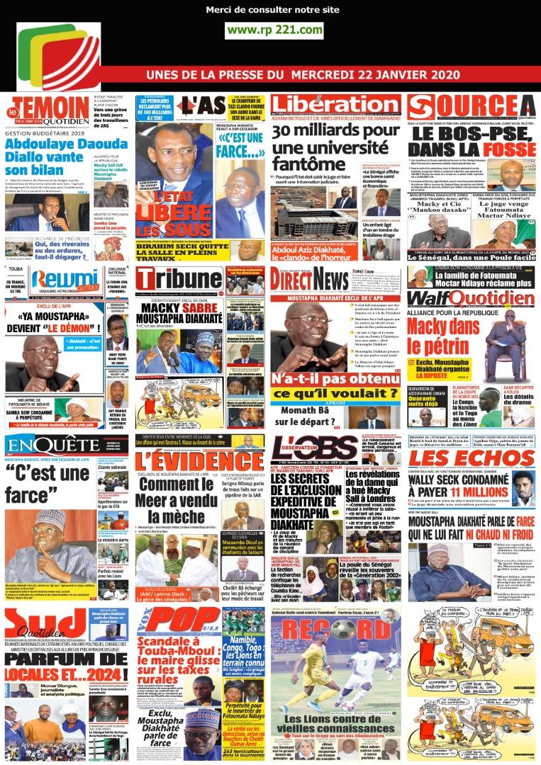 Marevuedepresse#Kebetu#Marevuedepresse#senegalDAKARNEWSLIVE du 23 janvier 2020