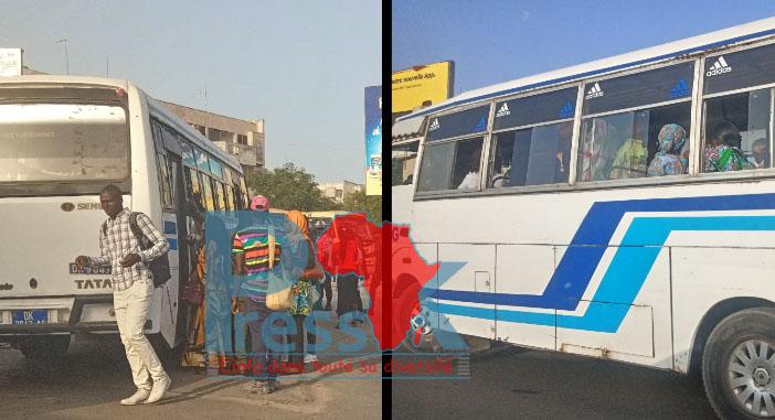 Coronavirus – La police met aux arrêts deux minibus « Tata » pour surcharge au rond-point Liberté 6