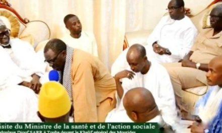 Coronavirus-Magal Porokhane : Abdoulaye Diouf Sarr chez le Khalife des mourides