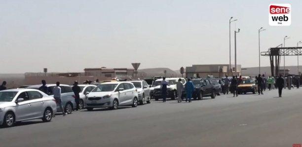 Etat d'urgence : Des véhicules bloqués à l'entrée de Dakar
