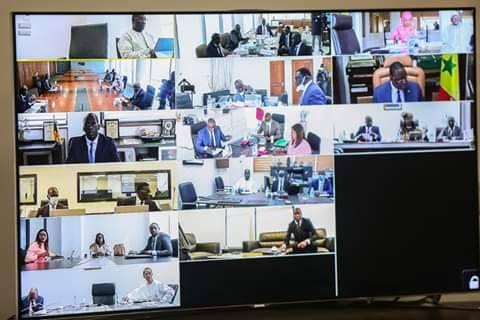 Arrêt sur image : Le Conseil des ministres en mode visioconférence